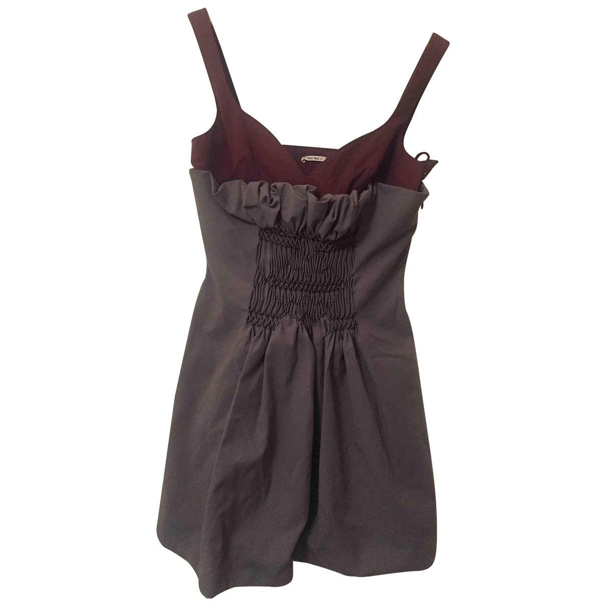 Miu Miu \N Kleid in  Grau Baumwolle - Elasthan