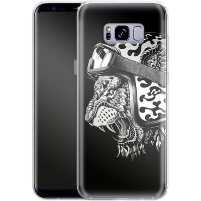 Samsung Galaxy S8 Plus Silikon Handyhuelle - Tiger Helm von BIOWORKZ
