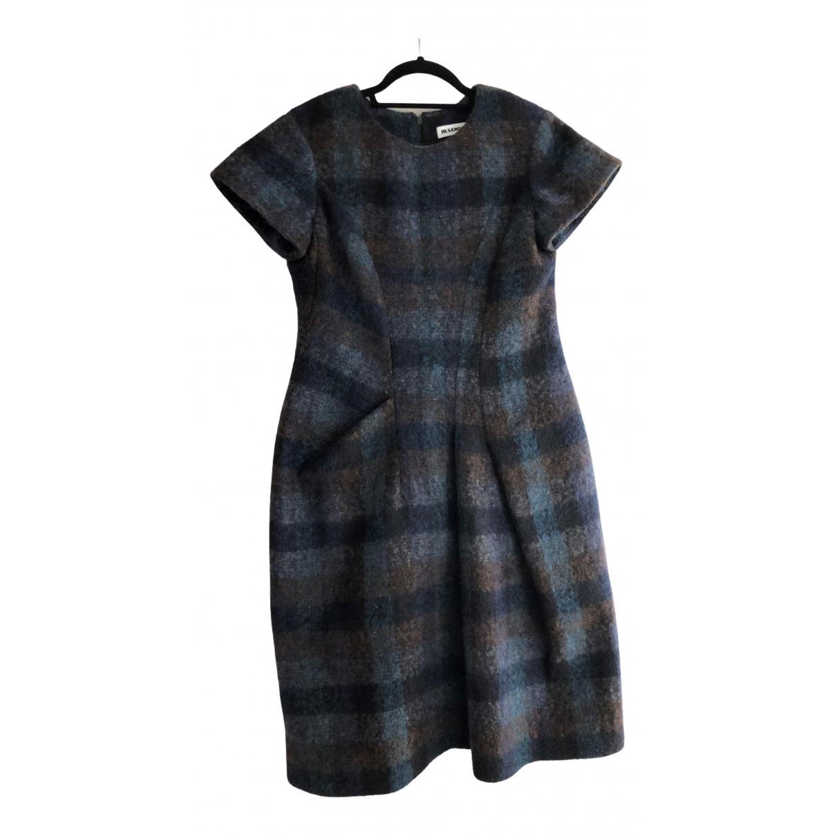 Jil Sander \N Kleid in  Blau Wolle