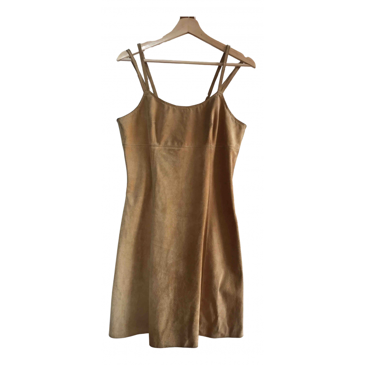 Non Signe / Unsigned \N Kleid in  Beige Leder