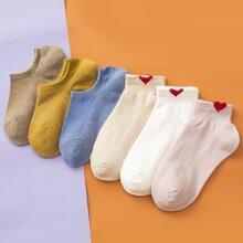 6pairs Heart Pattern Socks