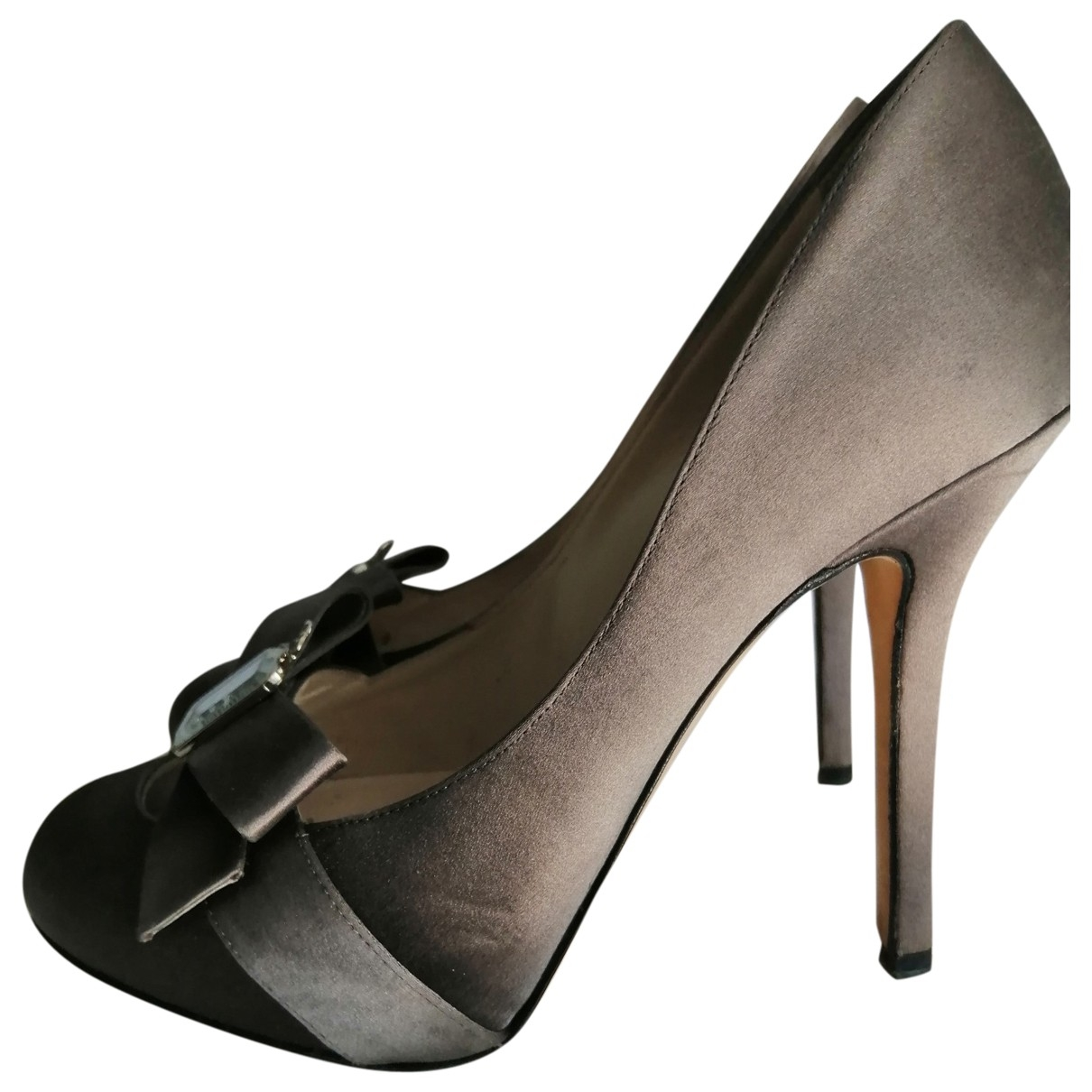 Dior \N Grey Cloth Heels for Women 35 EU