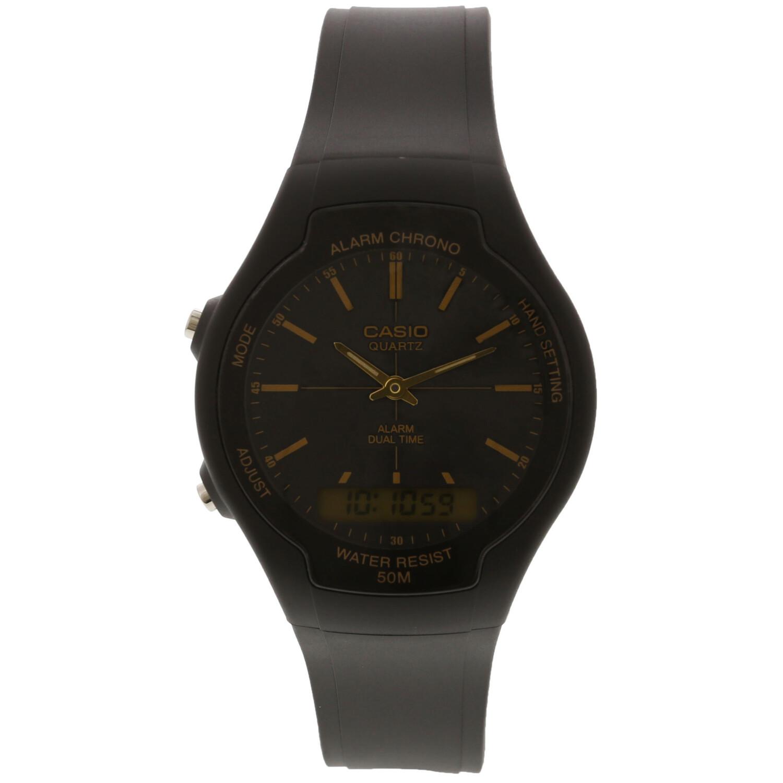 Casio Men's Core AW90H-9EV Black Rubber Quartz Fashion Watch