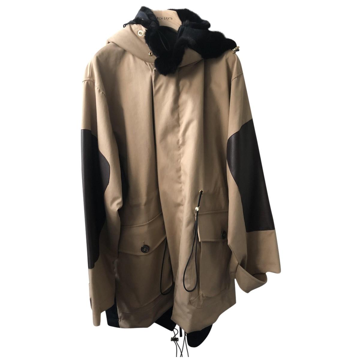 Marni - Manteau   pour femme en coton - camel