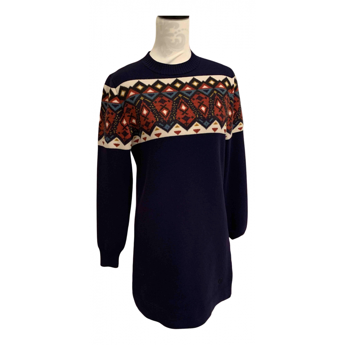 Louis Vuitton N Blue Wool dress for Women 38 FR