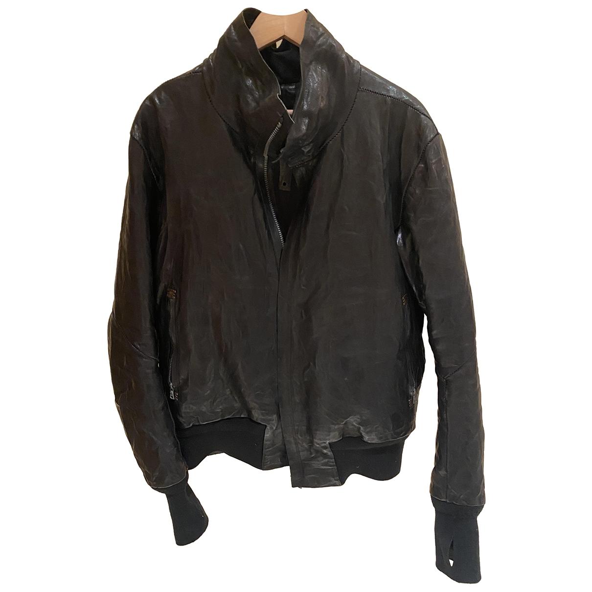 Isaac Sellam \N Black Leather jacket  for Men XL International