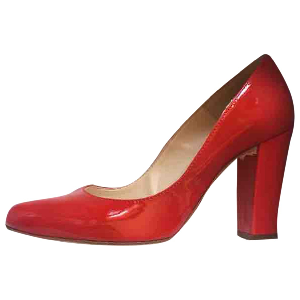 Non Signe / Unsigned \N Pumps in  Rot Lackleder