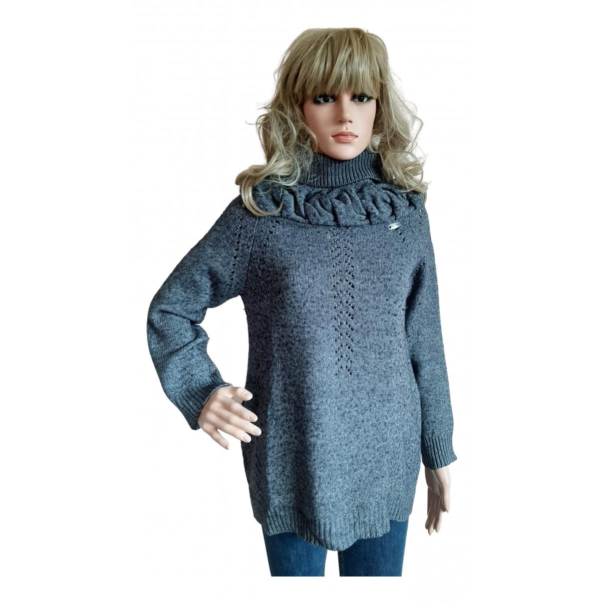 Cop Copine - Pull   pour femme en laine - gris