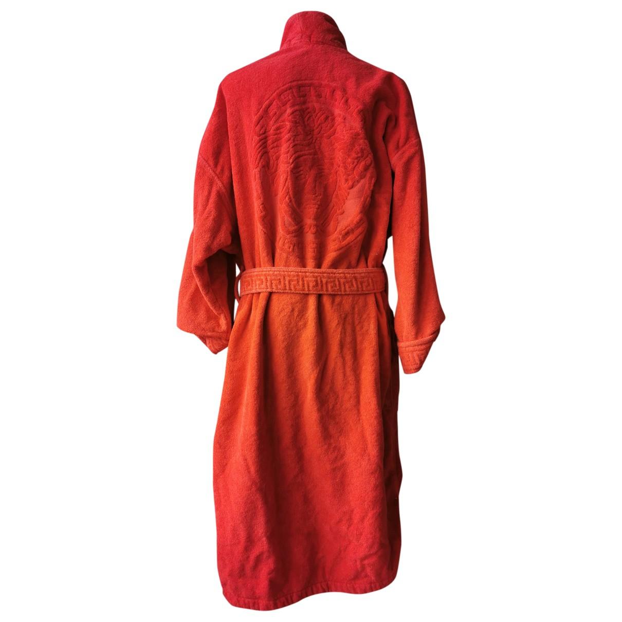 Versace - Bain   pour femme en coton - rouge