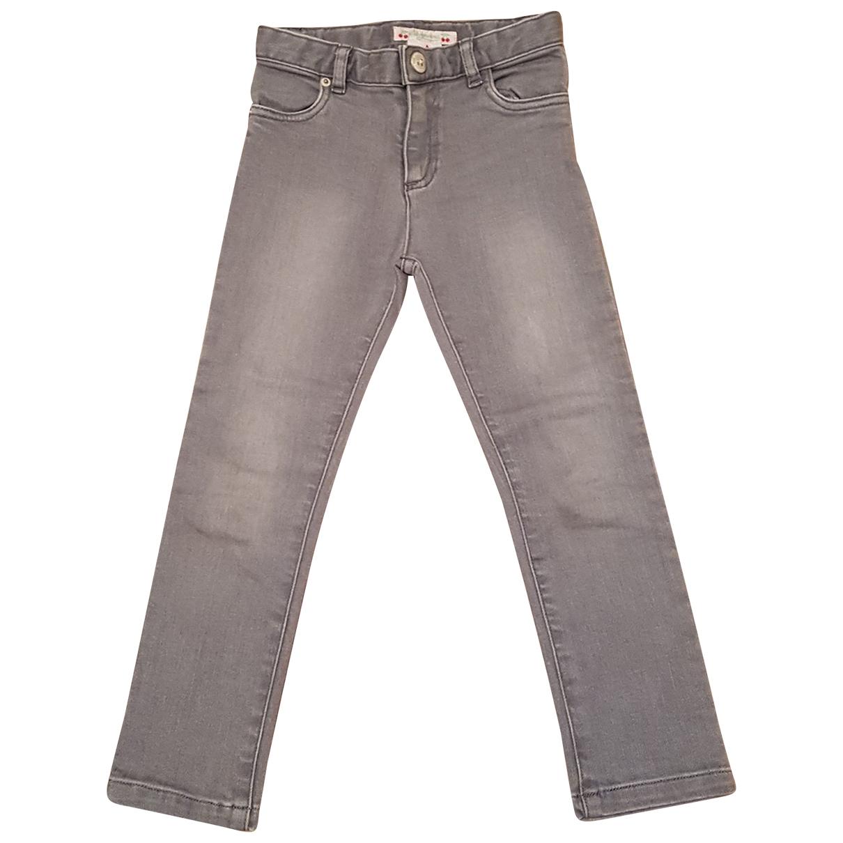 Bonpoint - Pantalon   pour enfant en denim - gris