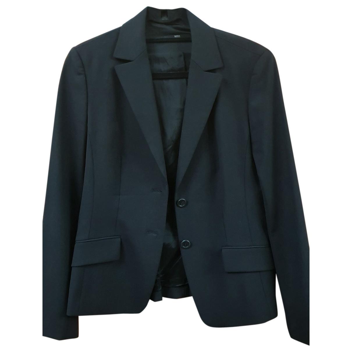 Boss \N Black Wool jacket for Women 42 FR