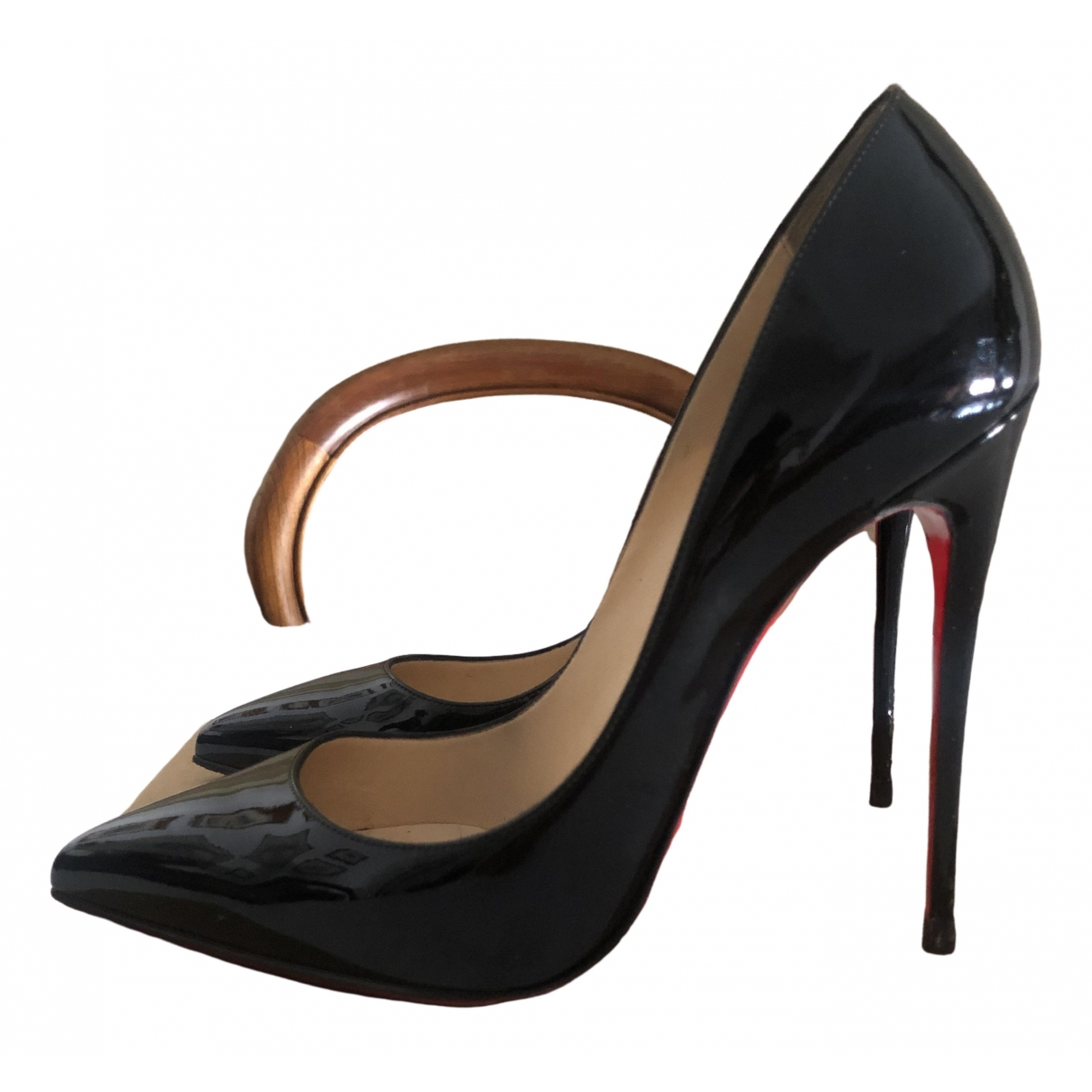 Christian Louboutin Pigalle Black Patent leather Heels for Women 40 IT