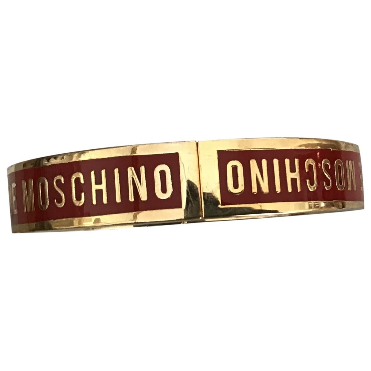 Moschino Love - Bracelet   pour femme en metal - rouge