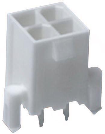 Molex , Mini-Fit Jr, 5566, 6 Way, 2 Row, Straight PCB Header