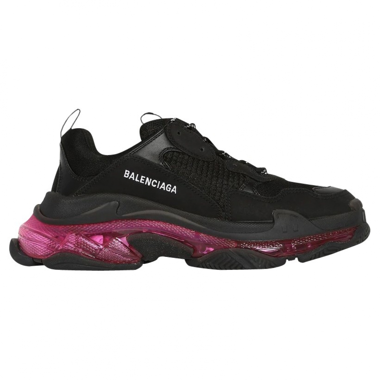 Balenciaga Triple S Black Cloth Trainers for Men 41 EU