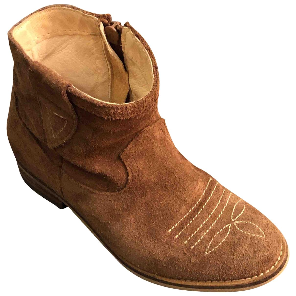 Pepe Children Shoes - Bottes.Bottines   pour enfant en suede - marron