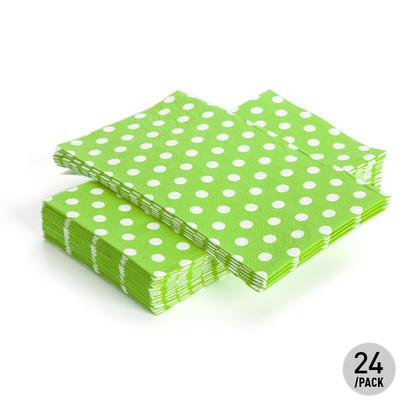 Paper Guest Towel Dinner Napkin Polka Dot 33*40CM 3Ply Green 24Pcs - Living Basics™