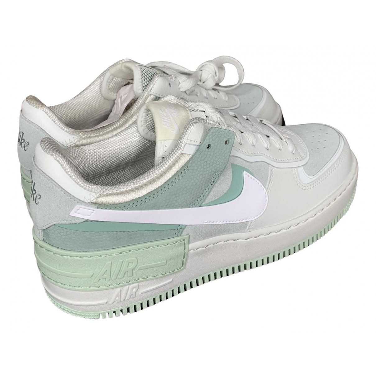 Nike - Baskets Air Force 1 pour homme en cuir - vert