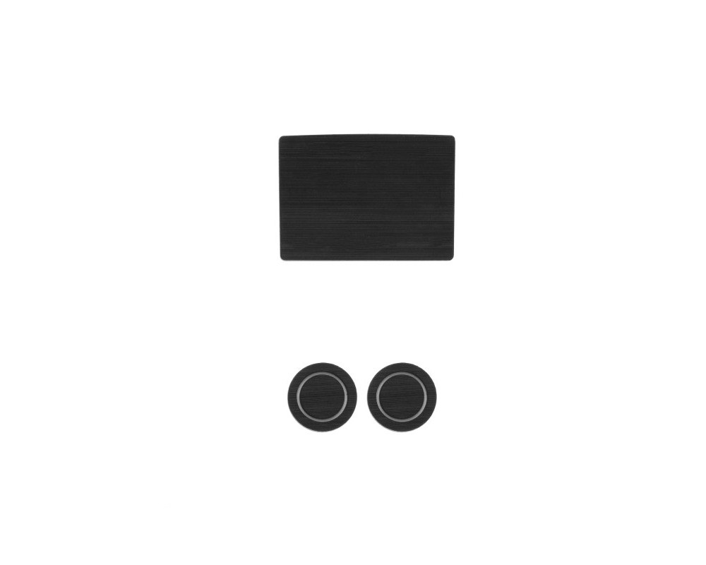 Tufskinz FRD014-FGY-X Interior Cup Holder Inserts Fits 2017-2020 Ford F-150 40/20/40 Split Seats With Center Dash Speaker 3 Piece Kit In Black/Gray