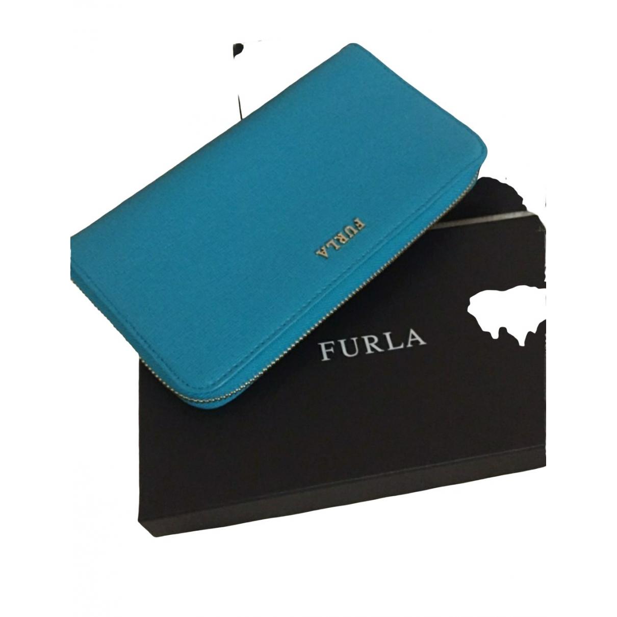 Furla \N Blue Patent leather wallet for Women \N