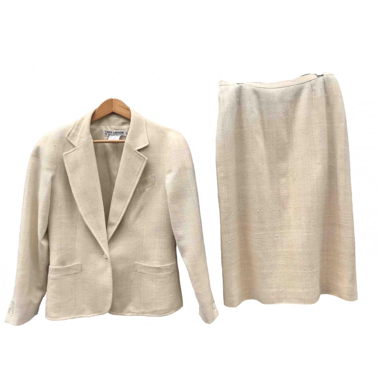 Guy Laroche \N Ecru Silk skirt for Women 42 FR