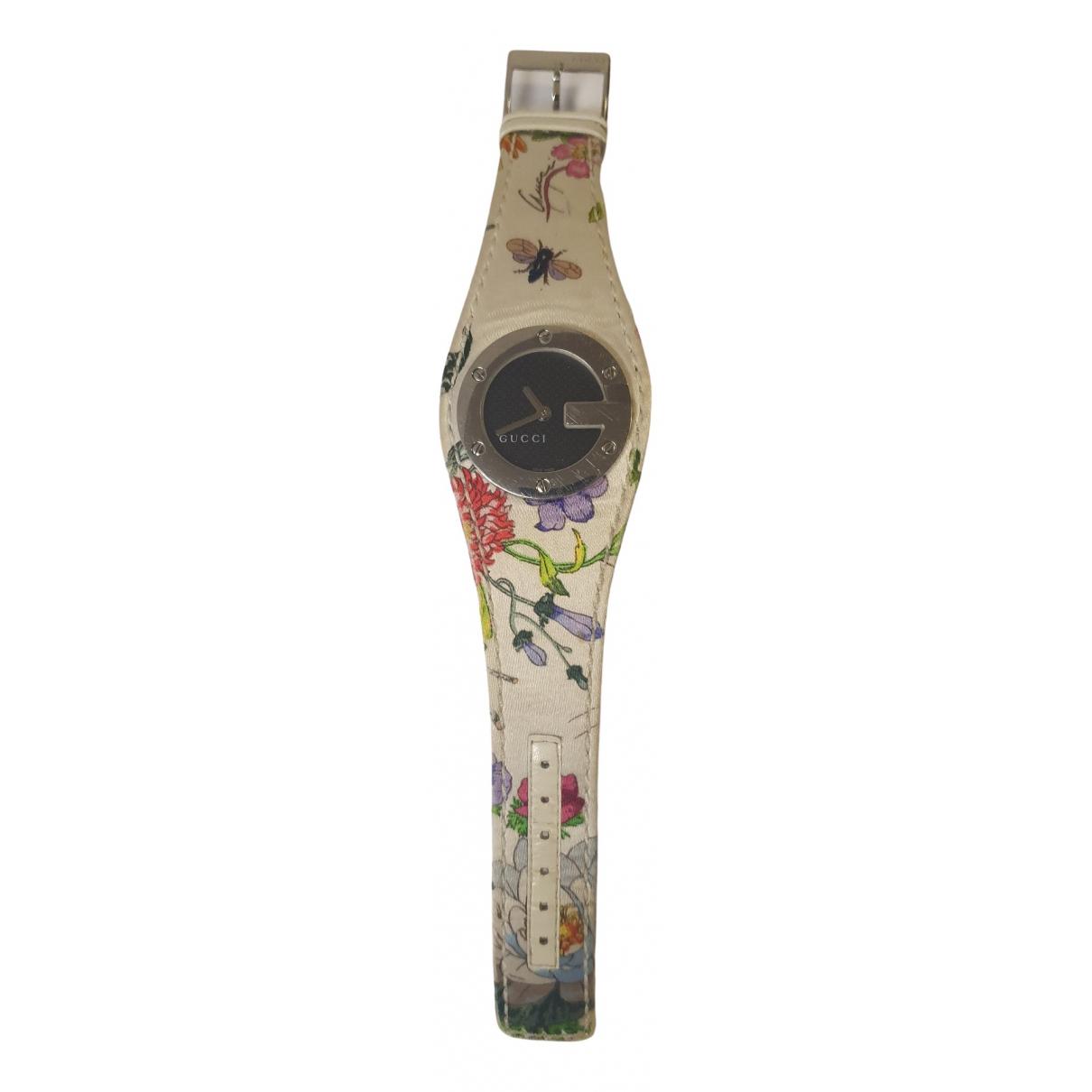Gucci \N Uhr in  Weiss Stahl