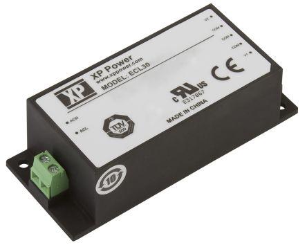 XP Power , 30W AC-DC Converter, 5 V dc, 12 V dc, Encapsulated
