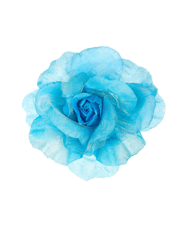 Kostuemzubehor Ansteckblume blau einfach