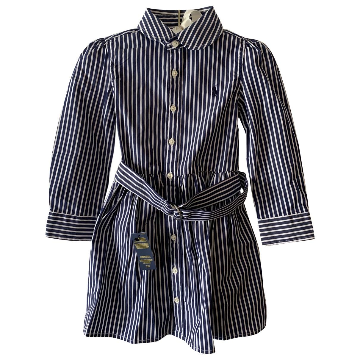 Polo Ralph Lauren - Robe    pour enfant en coton - marine