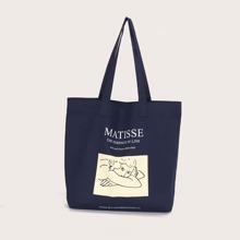 Einkaufstasche mit Figur Grafik