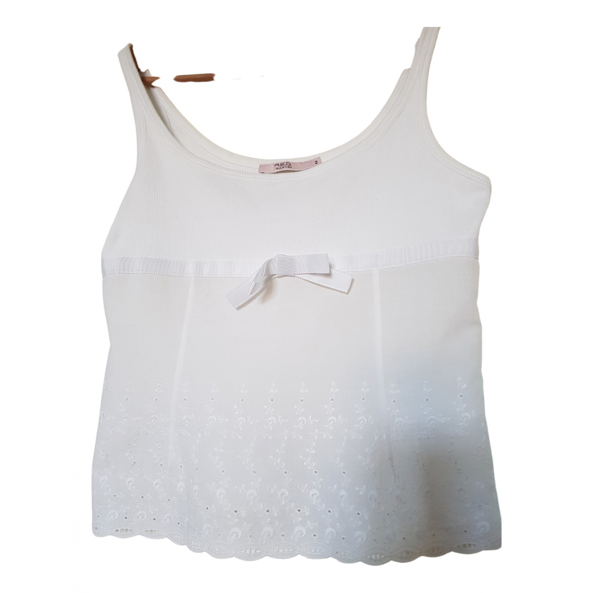 Red Valentino Garavani \N White Cotton  top for Women 44 IT