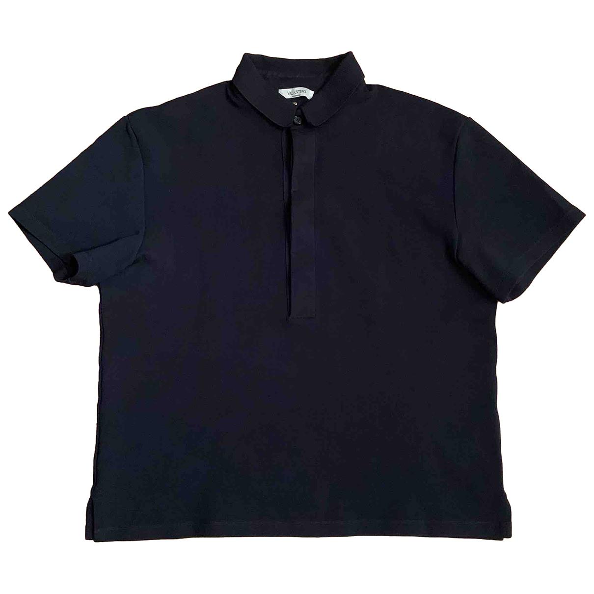 Valentino Garavani \N Poloshirts in  Marine Baumwolle