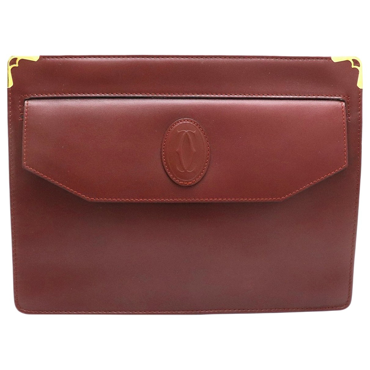 Cartier \N Burgundy Leather Clutch bag for Women \N