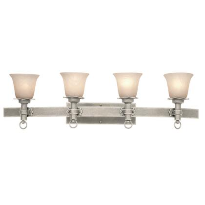Americana 4204FC/PS01 4-Light Bath in French Cream with Penshell Natural Option 1 Glass