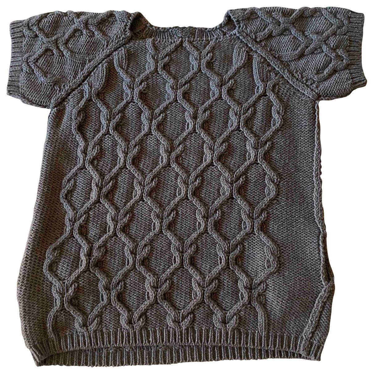Chloe - Robe   pour femme en laine - marron