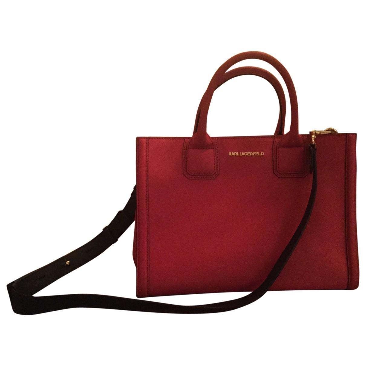 Karl \N Red Leather handbag for Women \N