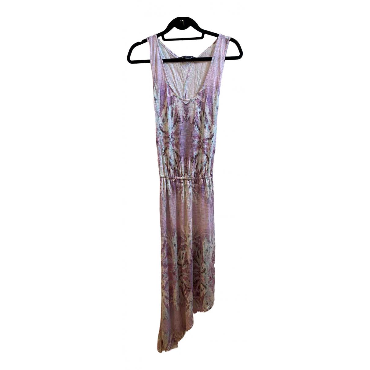 Emporio Armani \N Kleid in  Rosa Baumwolle - Elasthan