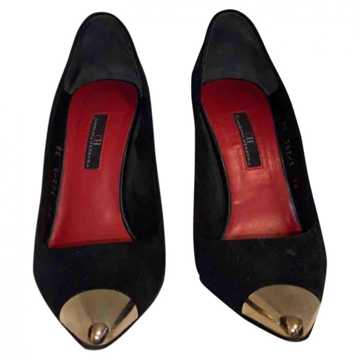 Carolina Herrera - Escarpins   pour femme en suede - noir