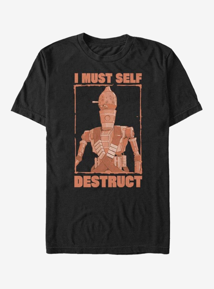 Star Wars The Mandalorian IG-11 Must Self Destruct T-Shirt