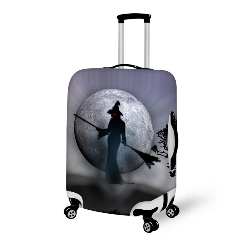 Halloween Witch Night Moon Waterproof Suitcase Protector for 19 20 21