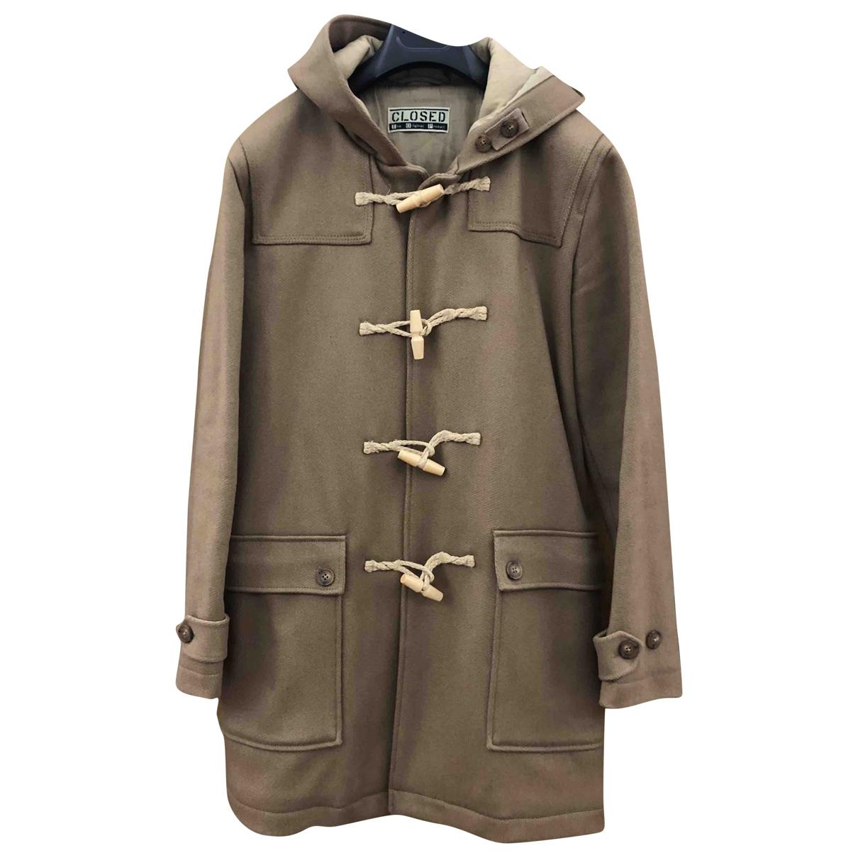Closed - Manteau   pour homme en laine - beige
