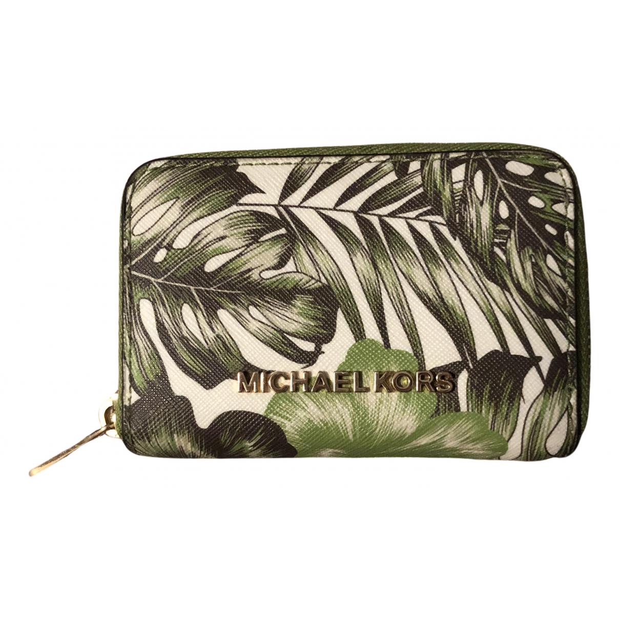 Michael Kors - Petite maroquinerie   pour femme en cuir - ecru