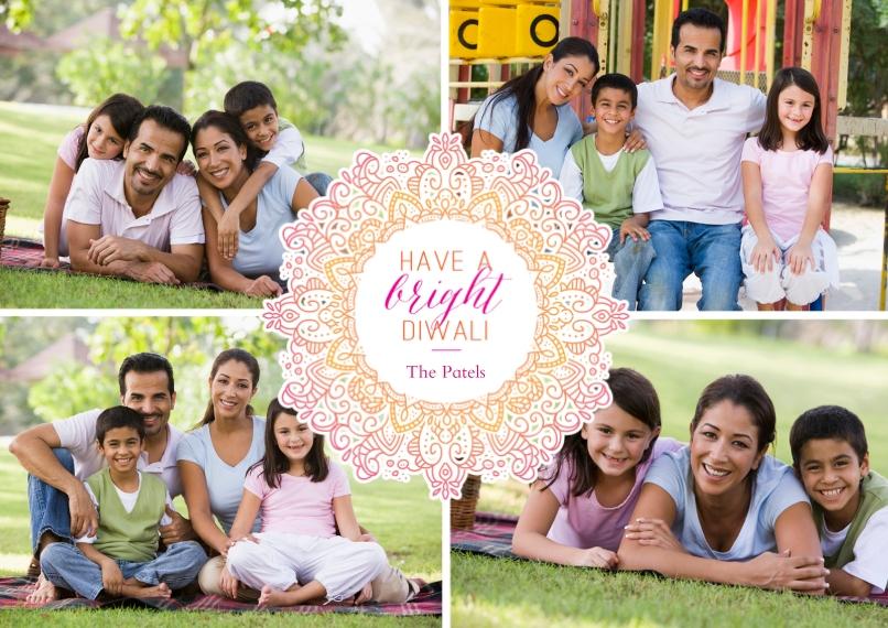 Diwali Cards 5x7 Cards, Premium Cardstock 120lb, Card & Stationery -Intricate Mehndi