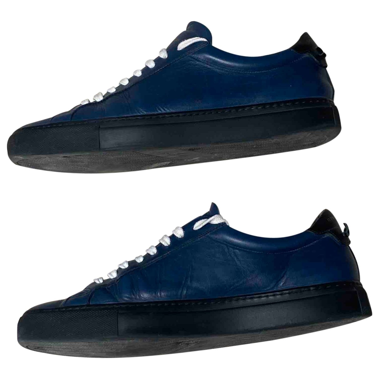 Givenchy \N Blue Leather Trainers for Men 41 IT