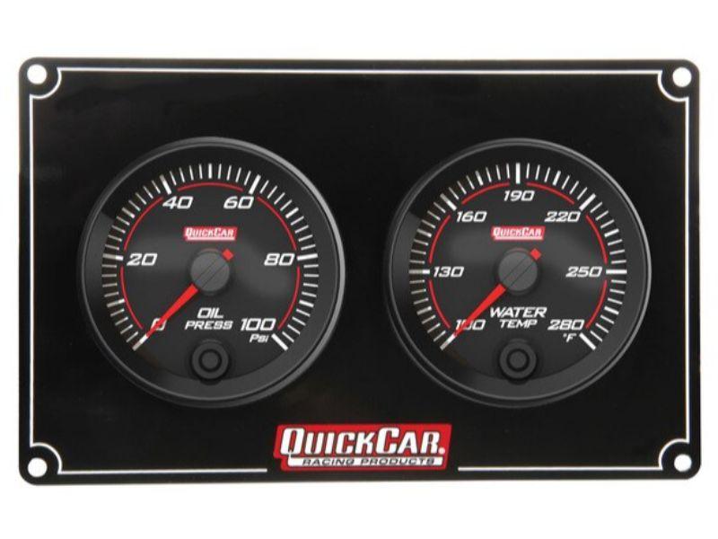 Quickcar Racing Products Redline 2 Gauge Panel OP/WT