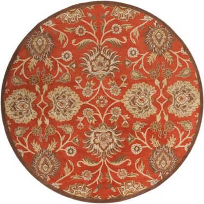 Caesar CAE-1062 8' Round Traditional Rug in
