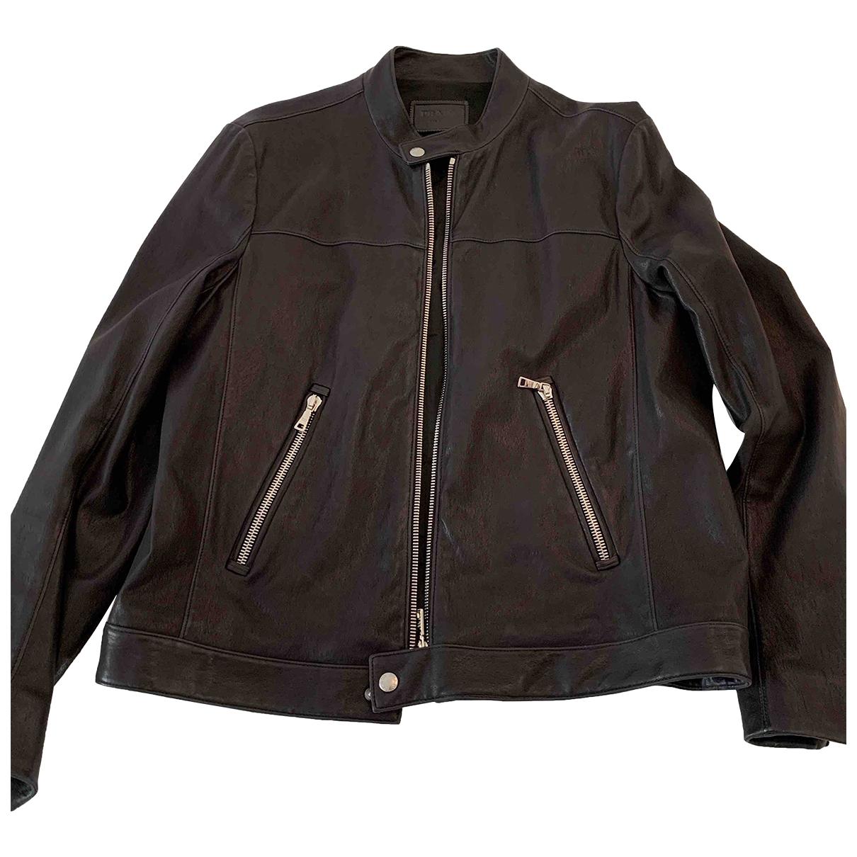 Prada \N Black Leather jacket  for Men L International