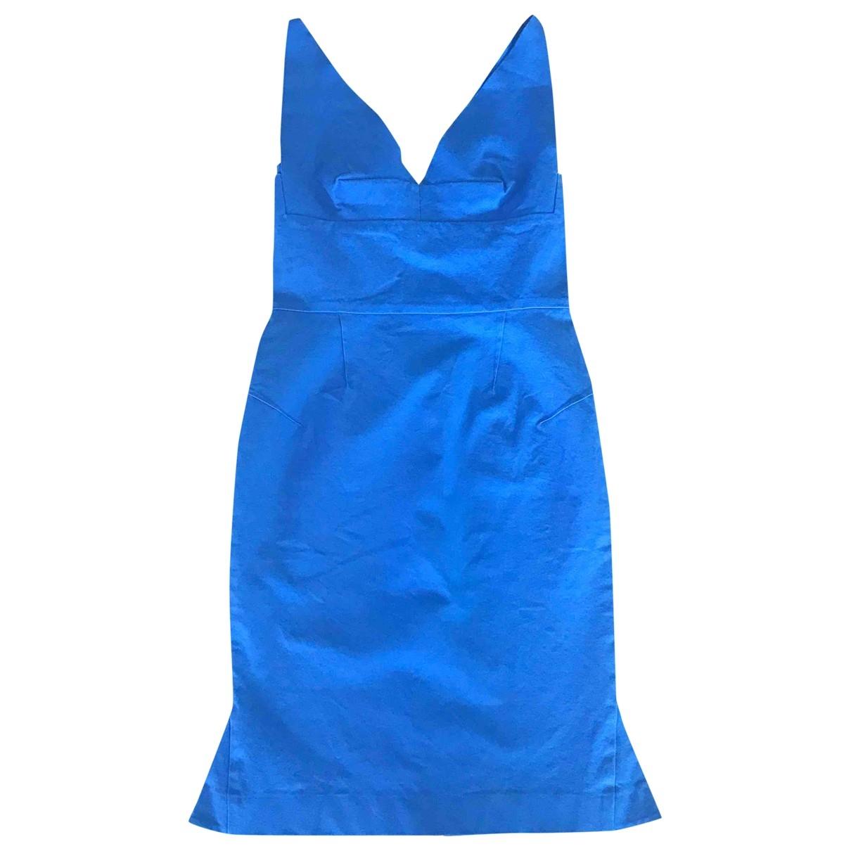Roland Mouret \N Kleid in  Blau Baumwolle - Elasthan