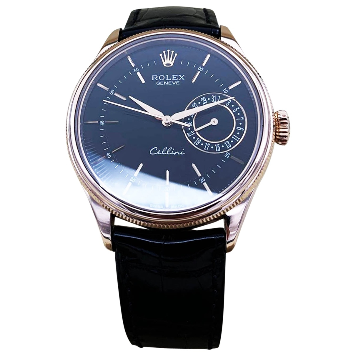 Rolex Cellini Uhr in  Braun Rosegold