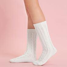 Calcetines de rodilla tejidos simples